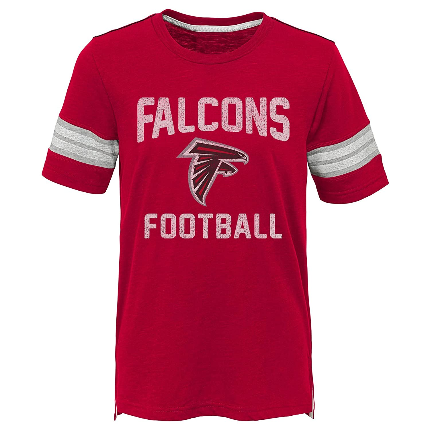 4 Outerstuff NFL NFL Atlanta Falcons Kids Prestige Short Sleeve Crew Neck Tee Crimson Kids Small