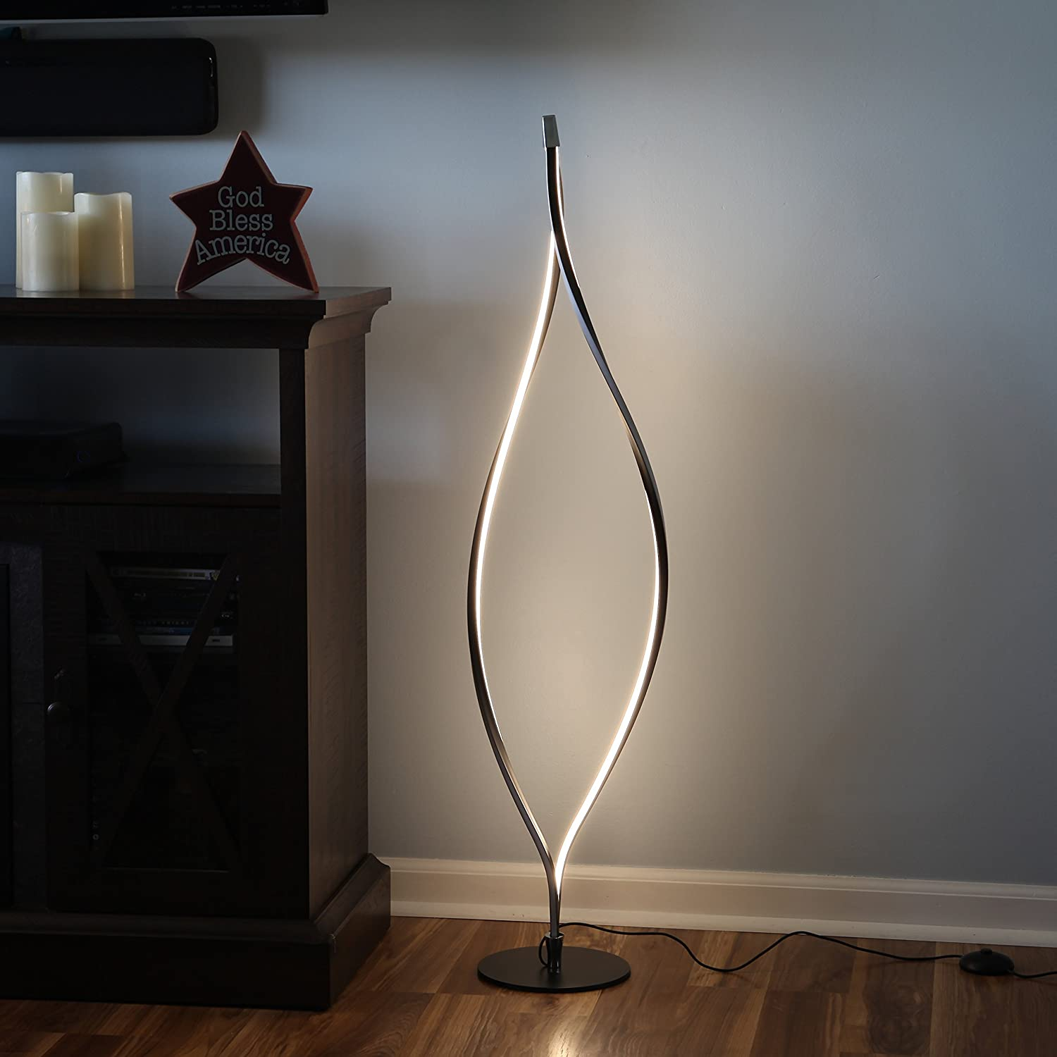 Dimmable Led Floor Lamp Beautiful Modern Style Functional Design