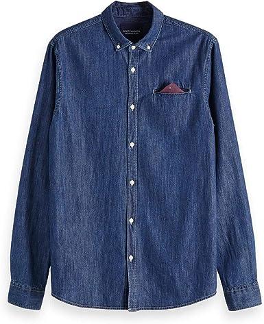 Scotch & Soda Regular Fit 1 Pocket Clean Denim Shirt with ...