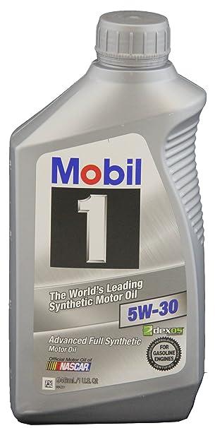 Amazon.com: Aceite de motor sintético 5W-30 Mobil 1 98HC63 ...