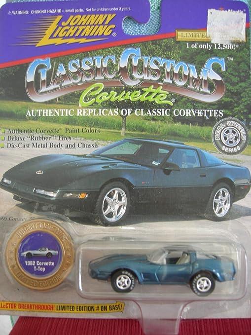 Amazon com: Johnny Lightning 1/64 1982 Corvette T-Top: Toys