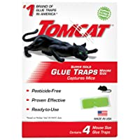 Tomcat Super Hold Glue Traps Mouse Size, Contains 4 Mouse Size Glue Traps - Captures...