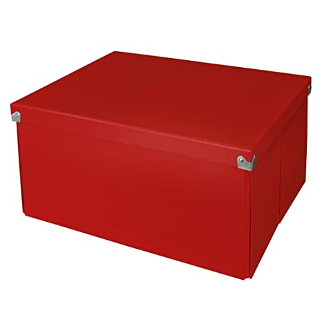 Gentil Amazon.com: Pop Nu0027 Store Decorative Storage Box With Lid, Collapsible And  Stackable, Large Mega Box, Interior Size (9.75u201dx9.75u201dx5.75u201d), Red: Office  Products