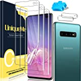 [3+2 Pack] UniqueMe Flexible Soft Screen Protector for Samsung Galaxy S10 Plus/S10+(Not for S10, Not Glass) and Tempered Glas
