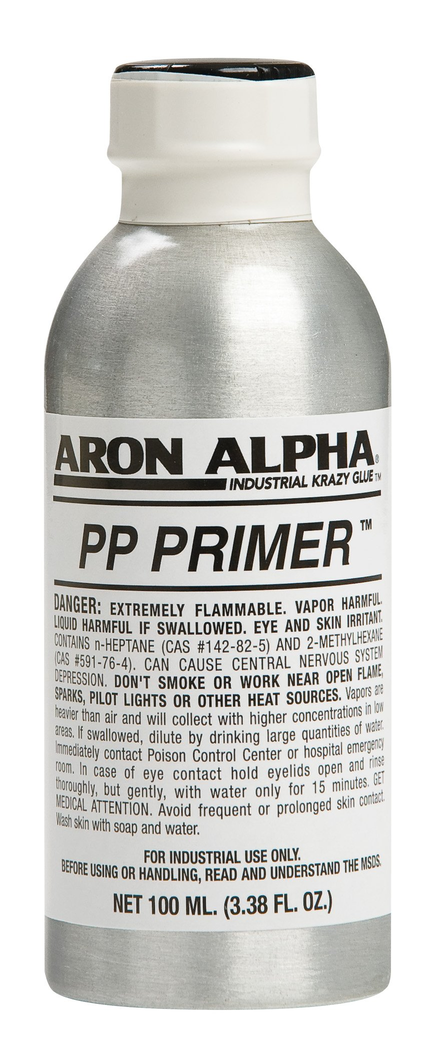Aron Alpha PP Primer For Use With Instant Adhesives To Bond Polyolefine Plastics, 100ml (3.38 oz) by Aron Alpha Industrial Krazy Glue