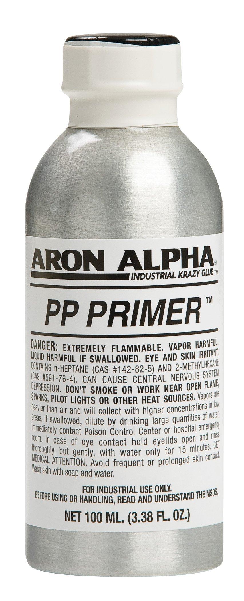 Aron Alpha PP Primer For Use With Instant Adhesives To Bond Polyolefine Plastics, 100ml (3.38 oz)