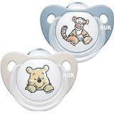 NUK Trendline schnuller | 0–6 månader | BPA-fri nål av silikon | Disney Winnie Puuh | blå (pojke) | 2 stycken