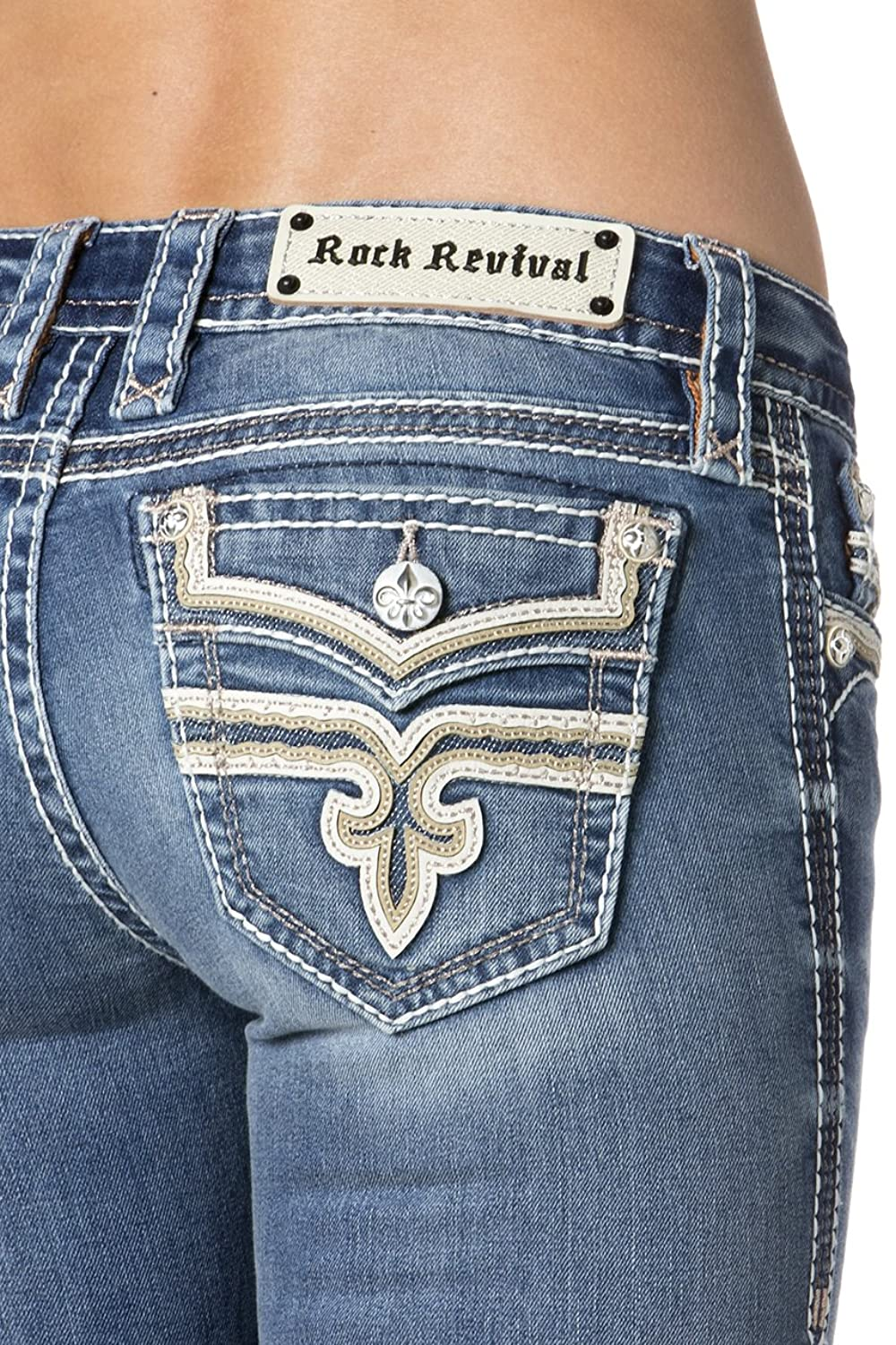Rock Revival - Womens Juni B200 Bootcut Jeans, Size: 26, Color: Denim