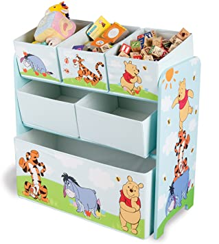 Disney Winnie the Pooh Multi Bin Toy Organizer: Amazon.co.uk: Baby