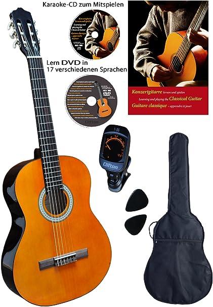 Clifton - Set de guitarra de concierto de 4/4 (libro en alemán, CD ...