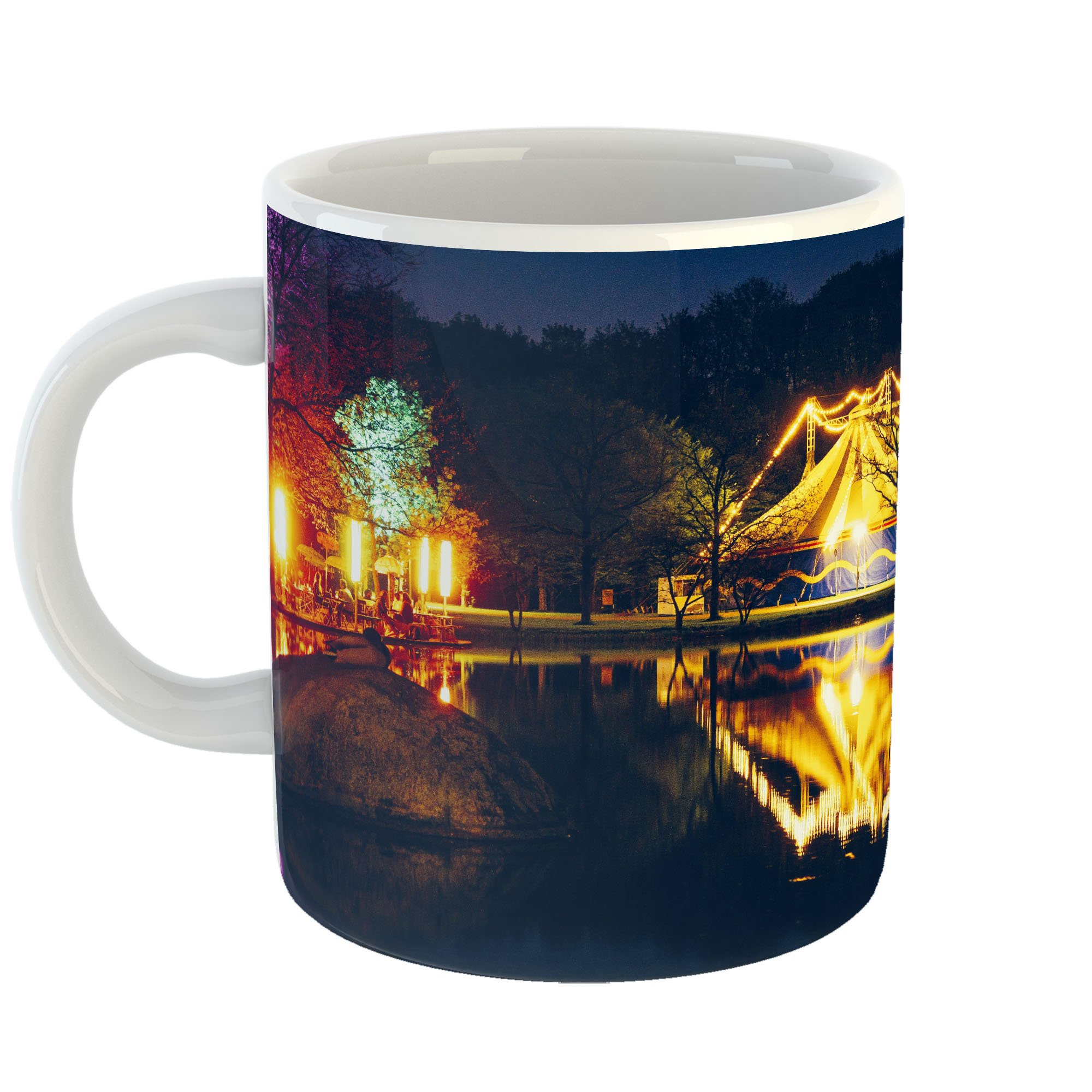 Westlake Art - Night Hotel - 11oz Coffee Cup Mug - Modern Picture Photography Artwork Home Office Birthday Gift - 11 Ounce (180C-24F1F)