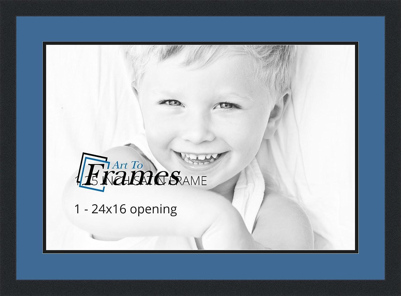 (アートトゥフレーム) ArtToFrames コラージュフォトフレーム ダブルマット 1窓 サテンブラックフレーム カスタマイズ可 1 - 3x5 ブルー Double-Multimat-714-836/89-FRBW26079 B00FW1XZLI 1 - 3x5,ロイヤル