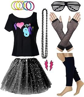 Amazon.com: Fun World Plus Size Womens 80s Pop Party Colorful Dress ...