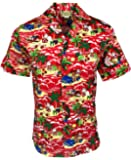 E&K Fashion Men's Christmas Hawaiian Shirt