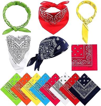 vamei 8 piezas Pañuelos Bandanas para Cabeza y Cuello Multicolor ...
