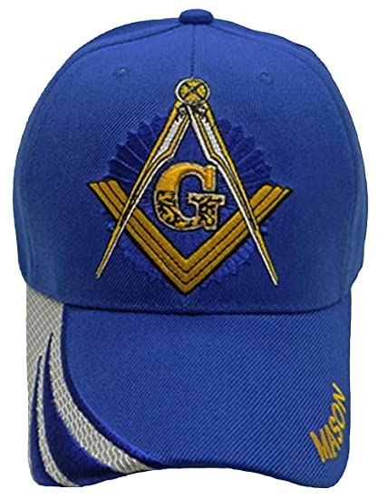5264eb52f9 Buy Caps and Hats Masonic Baseball Cap Freemason Mason Hat Mens One Size  (Royal Blue