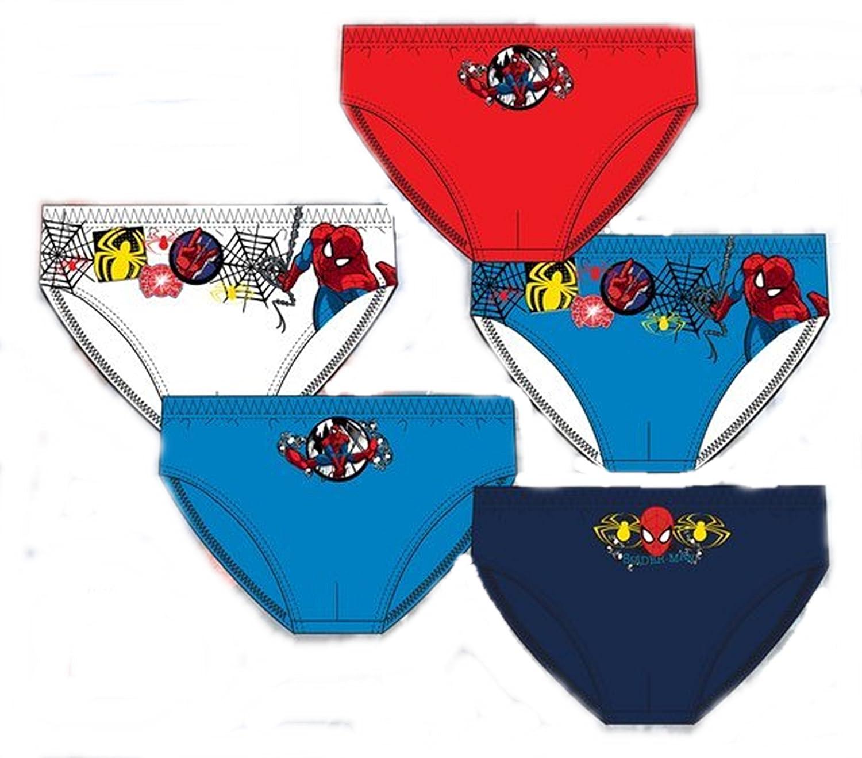 Pack de 5 slips diseño SPIDERMAN (Marvel) 5 diseños diferentes tallas 2/3, 4/5 y 6/8 años (100% algodon) (6/8 años): Amazon.es: Ropa y accesorios