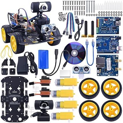 Amazon Com Kuman Sm3 Wi Fi Robot Car Kit For Arduino 4 Wheel