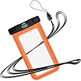 Waterproof Phone Case, YOSH Universal Cell Phone Dry Bag Pouch for Apple iPhone 6S 6 6S Plus SE 5S Note 5 S7 S6 Edge Pixel XL LG Huawei for Smartphone up to 6 inches (Orange)