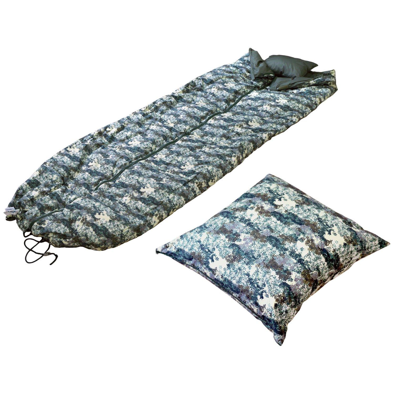 日本製 3way スリーピングクッション アップサイクルダウン 150×210cm 洗える 寝袋 シュラフ ケット 肌掛け クッション Herbe(エルブ) / グリーン B07DV2V3M4