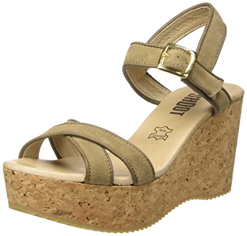 Bianco EU 40 SHOOTSHOOT SHOES SH160035 DAMEN SOMMER PLATEAU SANDALE WEDGES