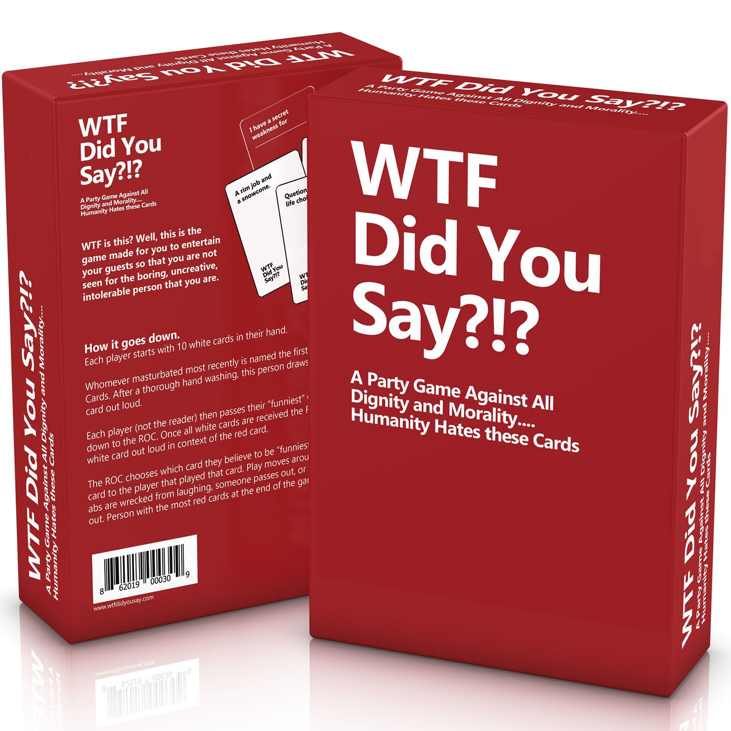 Amazon.com: WTF Did You Say A Party Game Against All Dignity And Morality  Full Game, XL Set Of 594 Cards: Toys U0026 Games