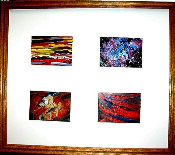 Amazon.com: Four Framed Abstract ACEO Paintings: Handmade