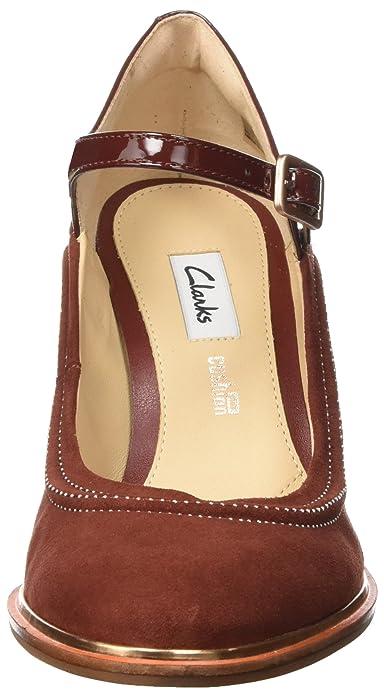 Clarks Ellis Mae, Riemchenpumps Femme: : Chaussures