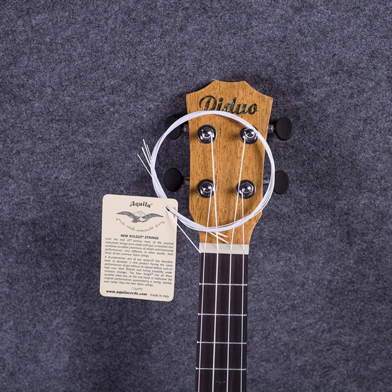 JIUY Ukulele//Cordes de guitare en nylon blanc Cordes pi/èce de rechange pour universel 21//23 26po Ukulele//Pi/èces guitare Blanc