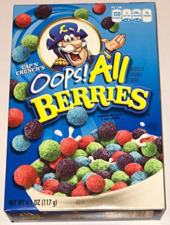 Amazon Com Capn Crunchs Oops All Berries Find many great new & used options and get the best deals for capn crunch cereal oops all berries 437g at the best online prices at ebay! capn crunchs oops all berries