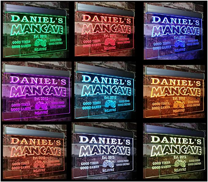 19 Dynamic Modes Speed /& Brightness Adjustable rs-x0012-tm-c Man Cave Bar Custom Personalized Your Name Established Date LED Neon Sign Round 10 Diameter Multicolor with Remote Control 20 Colors