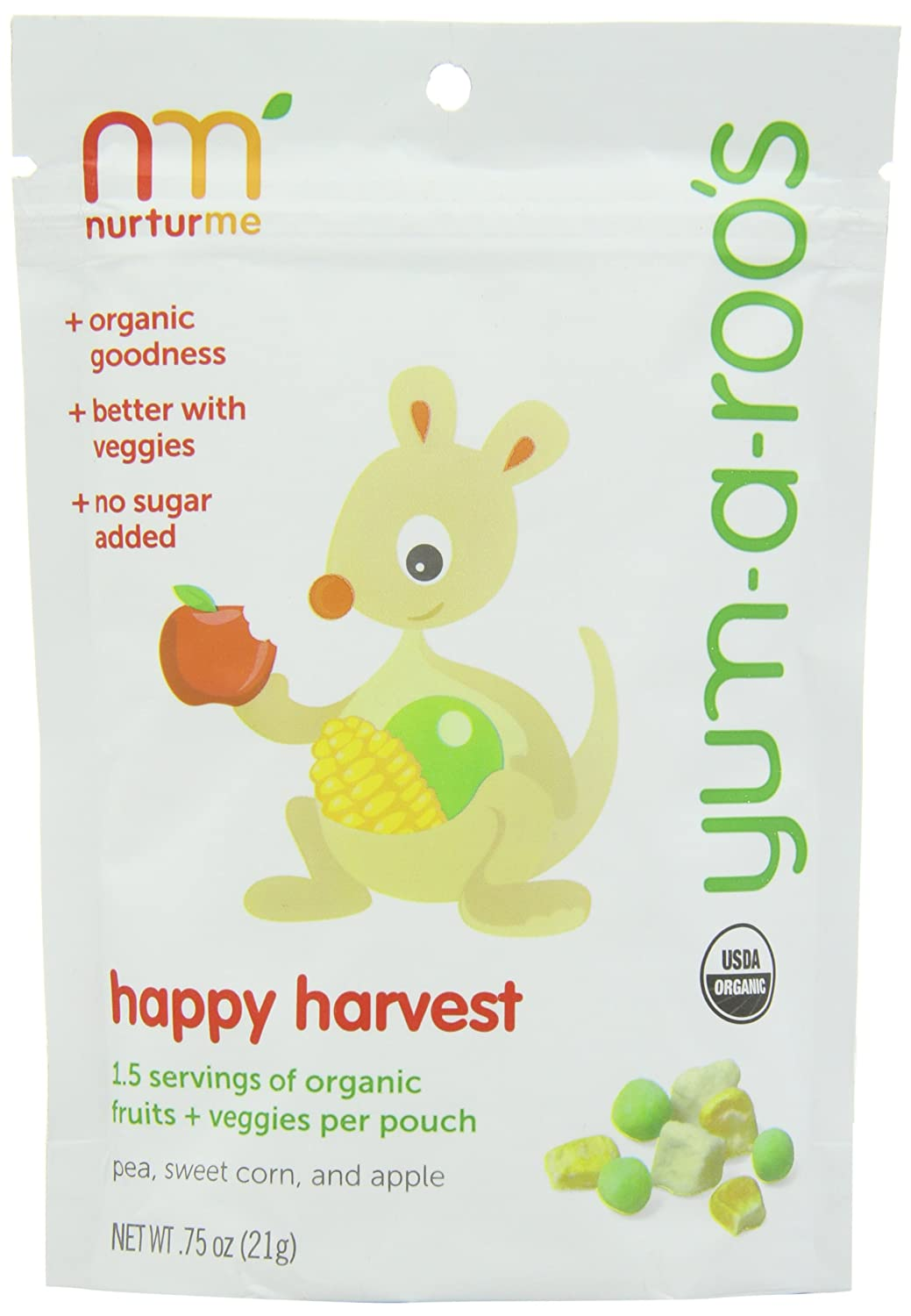 Amazon.com : NurturMe Yum-a-Roo's Happy Harvest Baby Snack : Baby Food Biscuits And Crackers : Grocery & Gourmet Food
