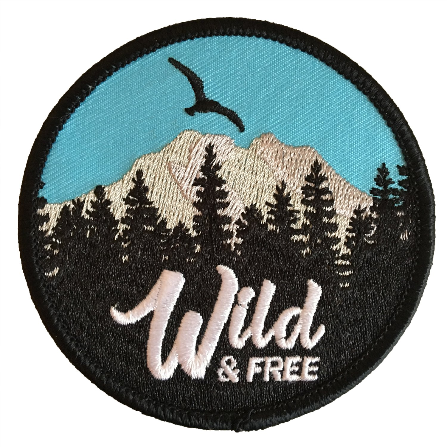Wild & Free Iron on Patch for Jackets, Backpacks, Jeans, Hats, and Clothing - Iron on Patches Hatjoy