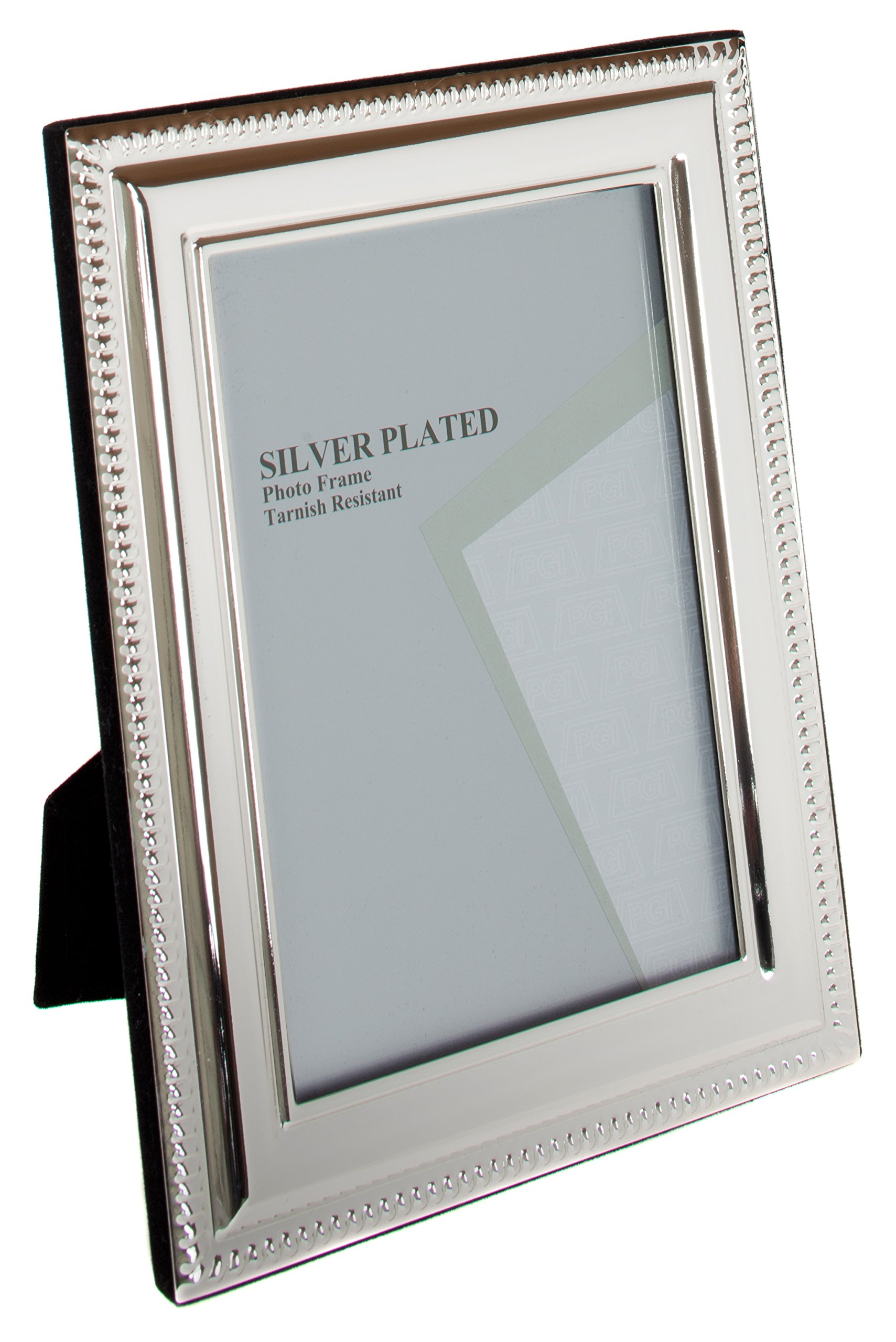 Viceni UNPF20-80 Silver Plated Bead Photo Frame, 8 by 10 Inch, 8 x 10-Inch by Viceni