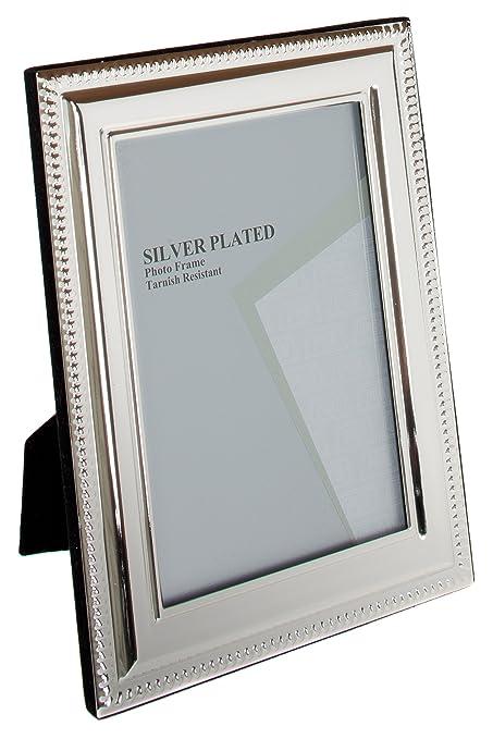 34f18821ed91 Amazon.com  Viceni Silver Plated Bead Photo Frame