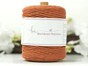 Single Rope Pipping Macrame Woven Crafts Coloured Cotton 100M 3mm Cord DIY
