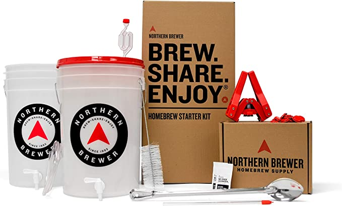 Northern Brewer - HomeBrewing Starter Set, Equipment, and Recipe kit