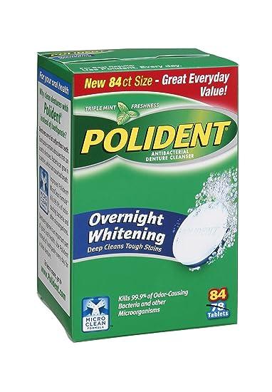 amazon com polident overnight whitening triple mint freshness