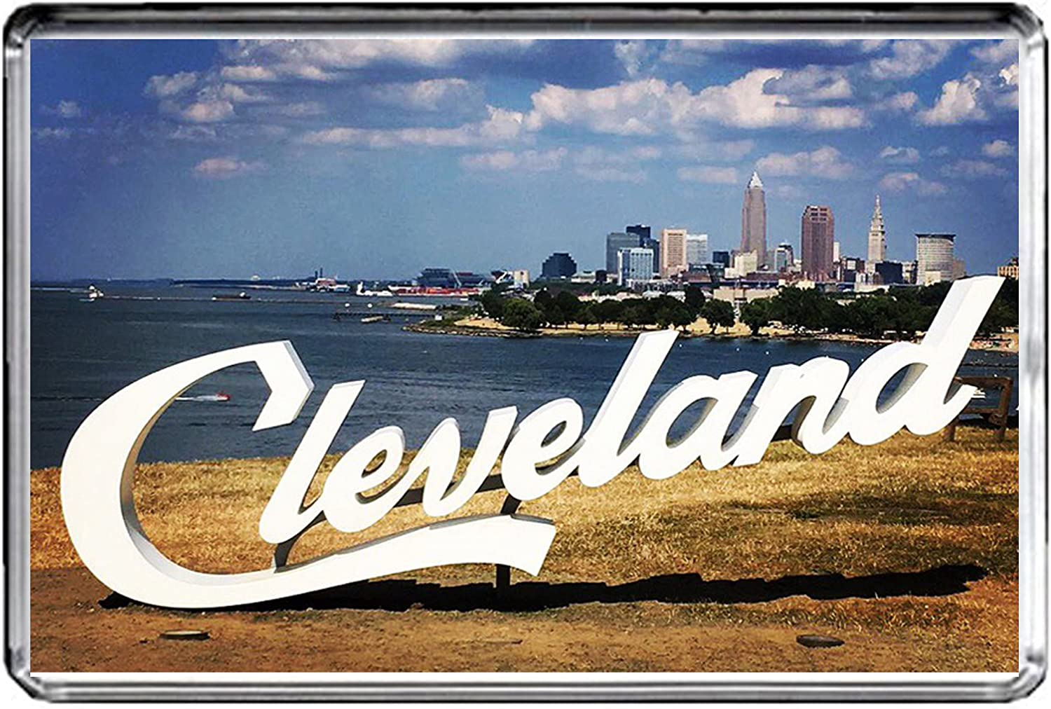 USA E499 Cleveland Fridge Magnet Travel Photo Refrigerator Magnet