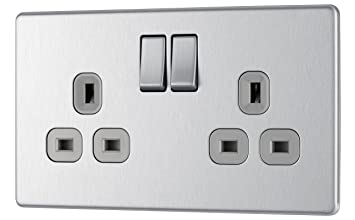 Electric Switch Socket Blanking Plate Double 2 Gang With Screws Pack Of 2 Other Home Building & Hardware Home Improvement