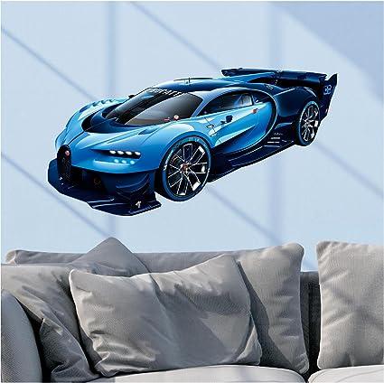 Bugatti Chiron Vision Grand Turismo Gt Blue Wall Decal Sports Car
