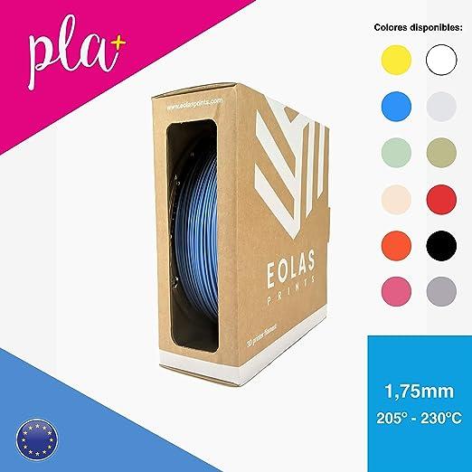 4 opinioni per EOLAS Filamento in PLA+ per stampanti 3D, 1,75 mm, Made in Europe, Food safe,