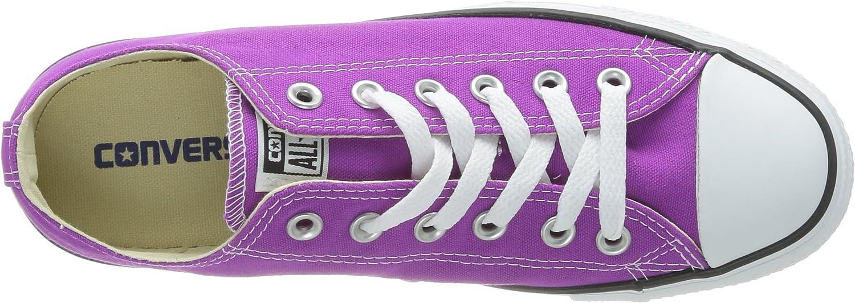 Converse Chuck Taylor All Star Season, Baskets Basses Mixte Violet Violet Fleur Cactus