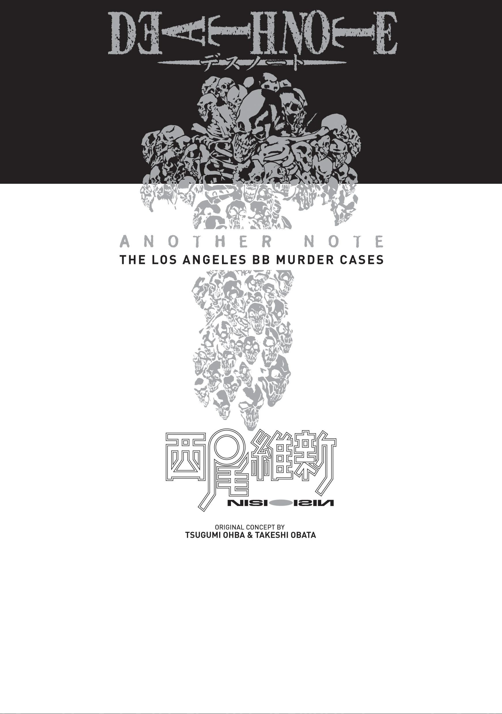 Death Note Another Note The Los Angeles Bb Murder Cases By Nisioisin