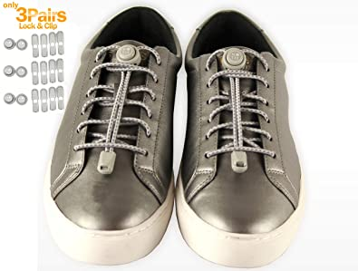 bdbde82e672eb No Tie Lace Lock for Shoes with Elastic Shoelaces for Adults, Kids,  Elderly, Toddler