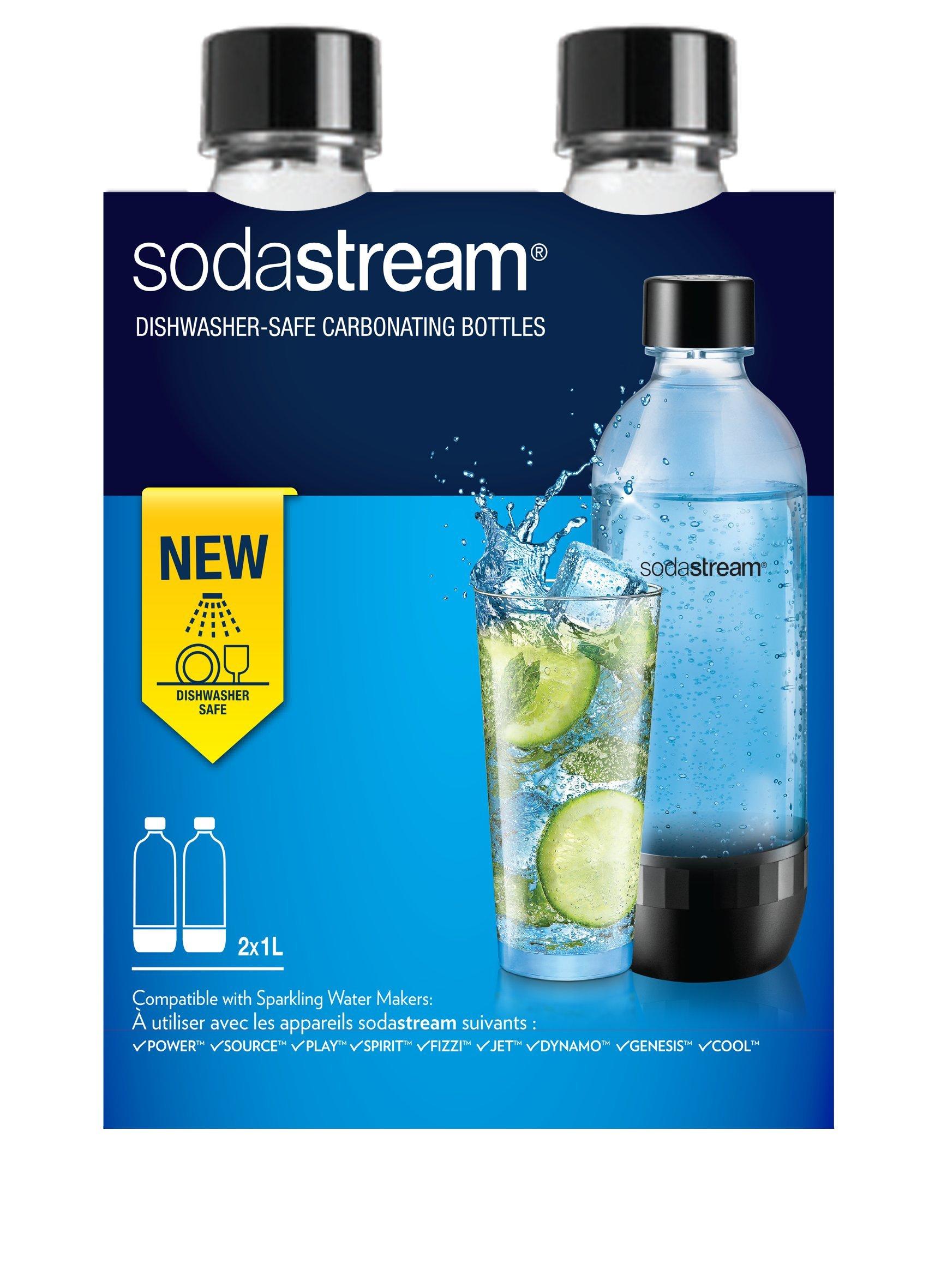 Sodastream Carbonating Bottles Clear Plastic