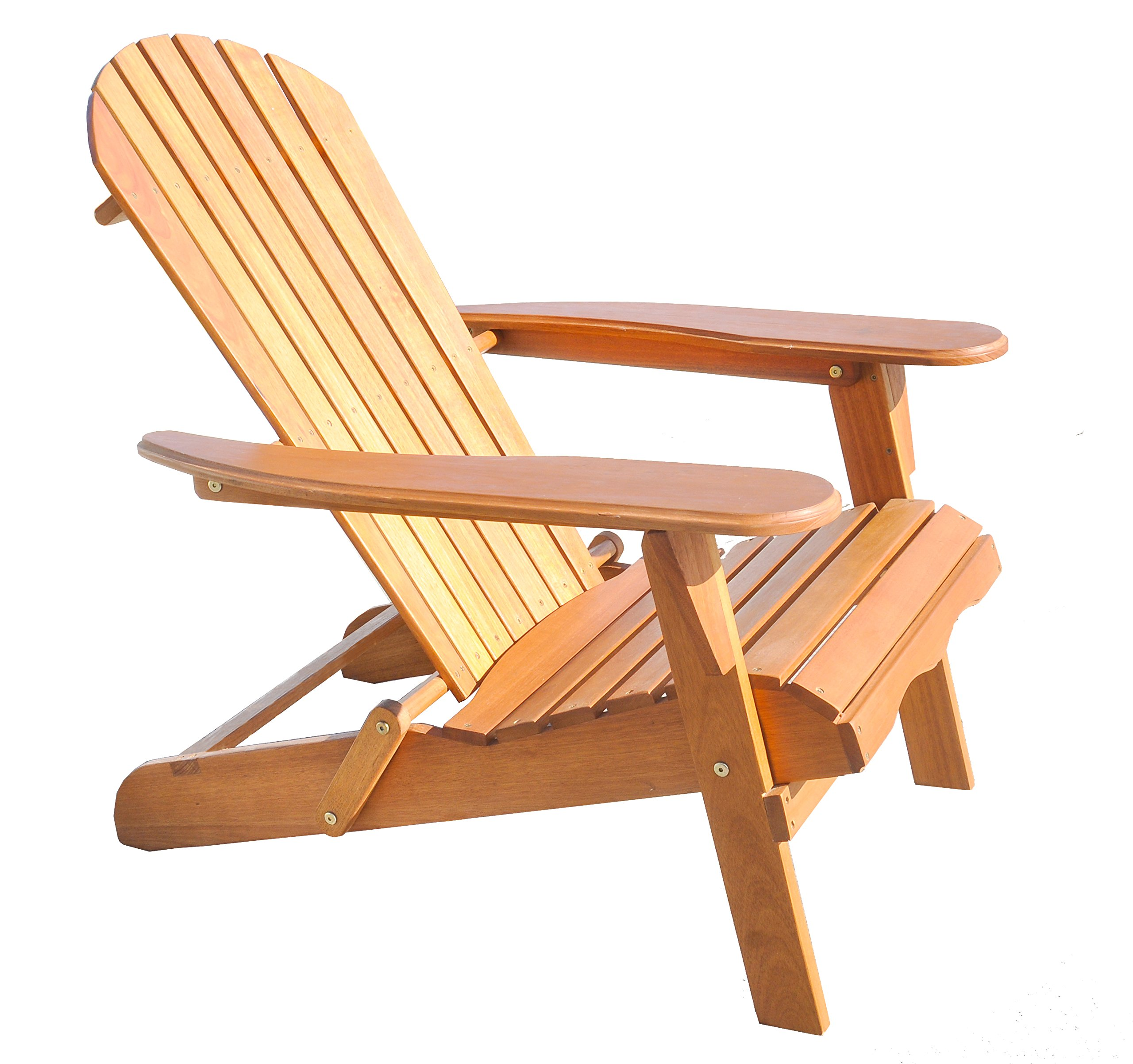 "Amayo Home Solid Eucalyptus Wood Foldable Adirondack Chair in Natural Color. Ergonomic Design & Can be Folded for Storage or Bringing to picnics - 100% EUCALYPTUS WOOD - won't splinter, warp or rot; FOLDS CONVENIENTLY for storage when not in use or in between seasons; HOLDS up to 350lbs LIGHT-WEIGHT DESIGN make it easy to move from place to place (23lbs); EASY TO ASSEMBLE with final dimensions measuring 35"" tall x 35/55.1"" deep x 31.3"" wide and weighing 23lbs - patio-furniture, patio-chairs, patio - 8190NlXLHBL -"