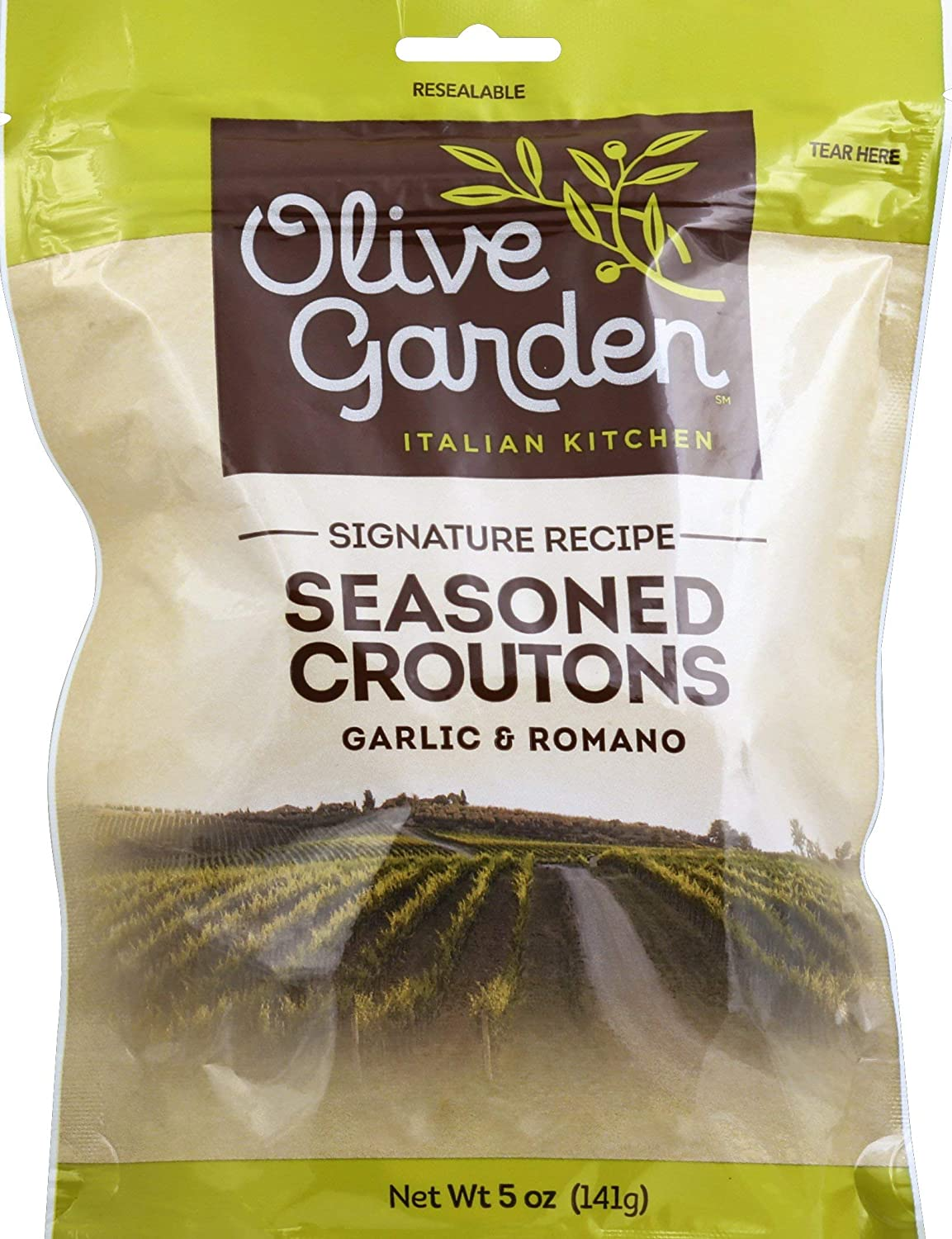 Olive Garden's Signature Light Italian Salad Dressing and Seasoned Croutons - Bundle