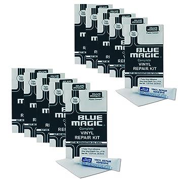 Blue Magic 10 x Kit de reparación Adhesivo y Parches para Agua Cama, Piscina, Piscina, Agua Bolas etc.: Amazon.es: Juguetes y juegos