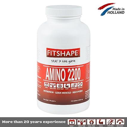 BCAA Suplemento de Aminoácidos de Cadena Ramificada por FITSHAPE - Desarrollo del Músculo Después del Entrenamiento